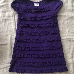 Hanna Andersson purple Ruffle Dress size 130 sz 8